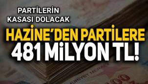 Partiler in kasası dolacak! Hazine'den 5 partiye 481 milyon TL yardım