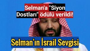 """Selman'a """"Siyon Dostları"""" ödülü verildi!"""