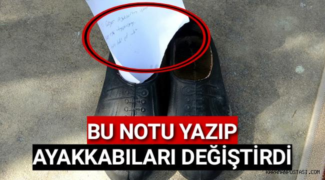 Bu Notu Yazıp Ayakkabıları Değiştirdi