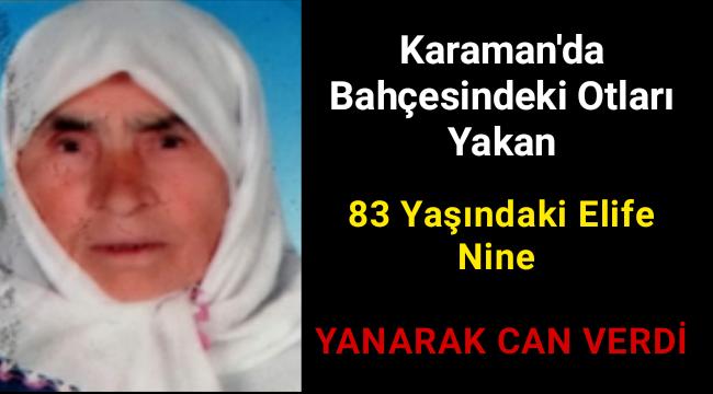 Bahçesindeki Otları Yakarken Elbisesi Tutuşan Elife Nine Hayatını Kaybetti