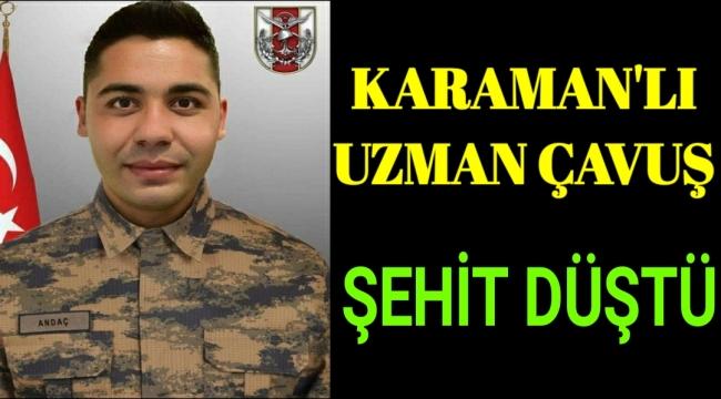 Karaman'lı Askerimiz Şehit Oldu